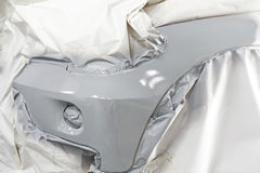 Car body work auto car repair paint after car accident during the spraying Royalty Free Stock Photography