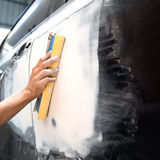 Car body work auto Repair paint after the accident. Royalty Free Stock Image