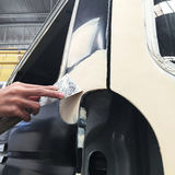 Car body work auto repair paint after the accident. Stock Photography