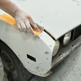 Car body work auto repair paint after the accident. Stock Image