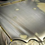 Car body work auto repair paint after the accident. Royalty Free Stock Photos