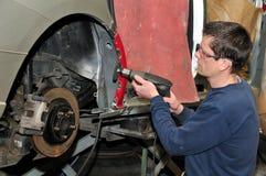 Car body worker. Royalty Free Stock Photos
