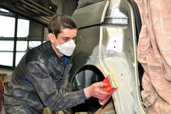 Car body worker. Stock Photography