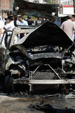 Car Bombing Targeting Egypt's Interior Minister Royalty Free Stock Photos