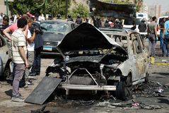 Car Bombing Targeting Egypt's Interior Minister Stock Photo