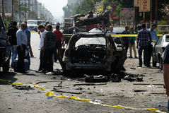 Car Bombing Targeting Egypt's Interior Minister Royalty Free Stock Images