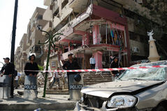 Car Bombing Targeting Egypt's Interior Minister Royalty Free Stock Photo