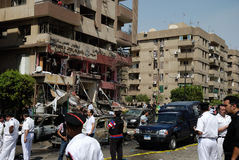 Car Bombing Targeting Egypt's Interior Minister Stock Photography
