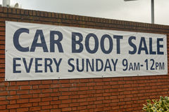 Car Boot Sale sign Stock Images
