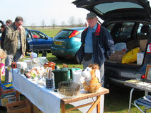 Car boot or table top sale. Royalty Free Stock Photography