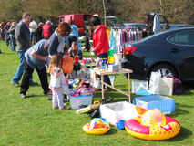 Car boot or table top sale. Royalty Free Stock Photo