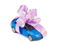 Car with bow as gift Stock Images