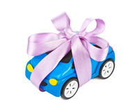 Car with bow as gift Royalty Free Stock Photos