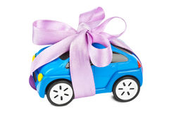 Car with bow as gift Stock Photography