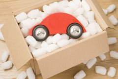 Car In A Box Stock Photo