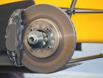 Car Brake. A Racing Car Brake Disc and Calliper Stock Images