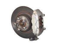 Car Brake. A Car Brake Disc and Calliper Assembly Stock Photography