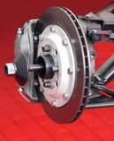 Car Brake. The Front Brake Disc Assembly of a Racing Car Royalty Free Stock Photos