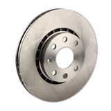 Car brake disc. A car brake disc isolated on white background Stock Image
