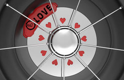 Car brake discs with hearts Stock Image