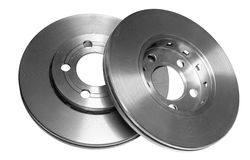 Car brake discs Royalty Free Stock Images