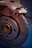 Car brake disk and caliper Royalty Free Stock Images