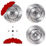 Car brake disk system Royalty Free Stock Photography