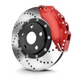 Car brake disk. On white background. 3d illustration Royalty Free Stock Image