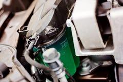Car brake fluid tank. Stock Photography