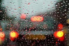 Car brake lights.