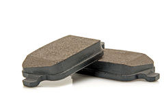 Car brake pads. Automobile brake pads on a white background Stock Image