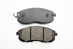Car brake pads on white. Background Stock Photography