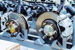 Car brake system. Waiting for assembly of the car brake system Stock Images