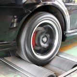 Car brake testing system. A car brake testing system Stock Photo