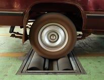 Car brake testing system Stock Image