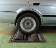 Car brake testing system Stock Photo