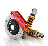 Car brakes with absorbers. Auto parts Stock Photography