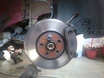 Car brakes. Closeup of car brakes at service Royalty Free Stock Photo