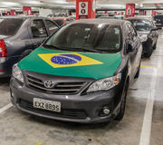 Car Brazil Flag Royalty Free Stock Photography