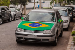 Car Brazil Flag Royalty Free Stock Photos