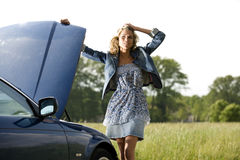 Car Breakdown Royalty Free Stock Photography