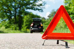 A car with a breakdown. Alongside the road stock images