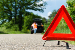 A car with a breakdown. Alongside the road royalty free stock images