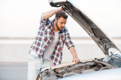 Car breakdown. Royalty Free Stock Photo