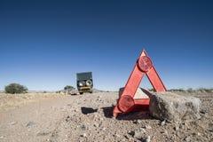 Car breakdown in the desert Royalty Free Stock Photography