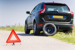 Car with a breakdown Stock Images