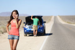 Free Car Breakdown - Woman Phone Calling Auto Service Stock Photography - 30246962