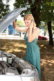 Car breaks down Royalty Free Stock Photography