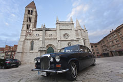 The car of the bride to the Church Stock Photography