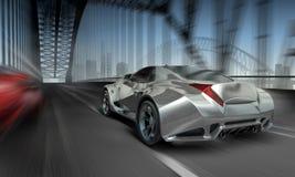 Car on bridge Stock Image